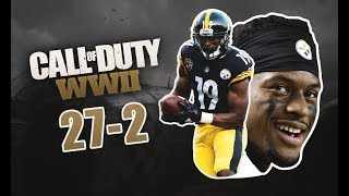 JuJu Smith-Schuster Goes 27-2 Call of Duty Hardcore TDM Gameplay