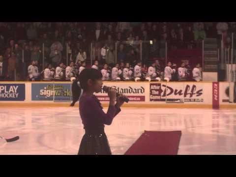 Isabella Milano Sings At The Niagara Ice Dogs Game Music