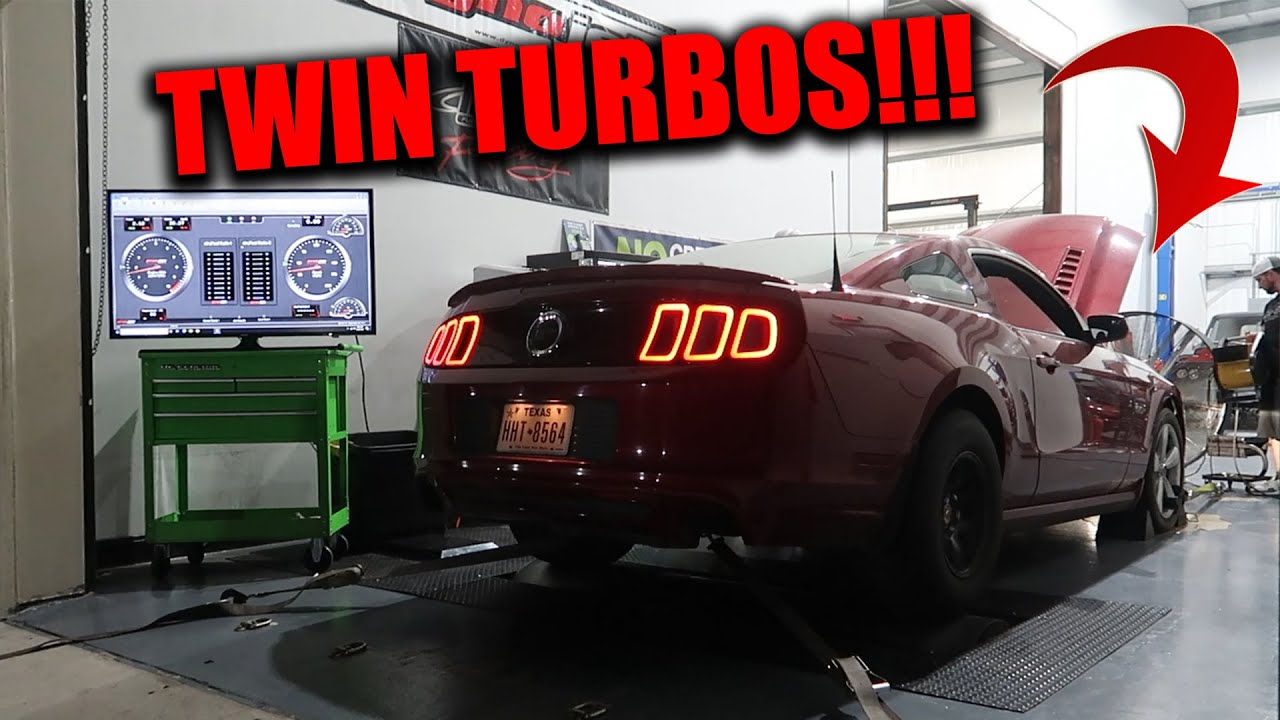 CRAZY TWIN TURBO MUSTANG GT HITS THE DYNO WITH OTHER MODIFIED MUSCLE CARS!!!