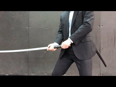 Game-like KATANA motion reference material -Japanese businessman game style action 378-