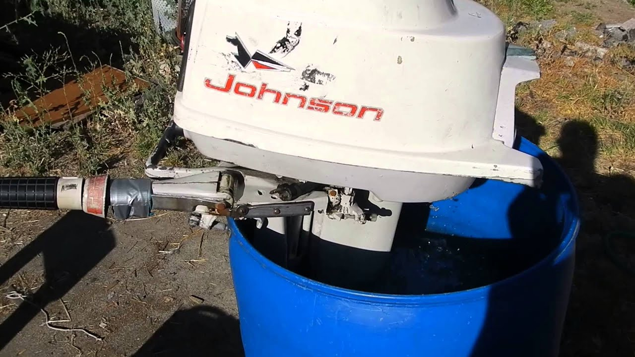 1960 39 S 10hp Johnson Outboard Boat Motor For Sale Youtube