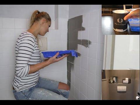 Verf Om Over Tegels Te Schilderen.Toilet Makeover Met Pure Original By Lesley Alma