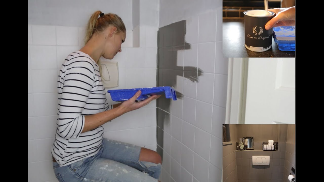 Betonverf Action Badkamer Toilet Makeover Met Pure Original By Lesley Alma