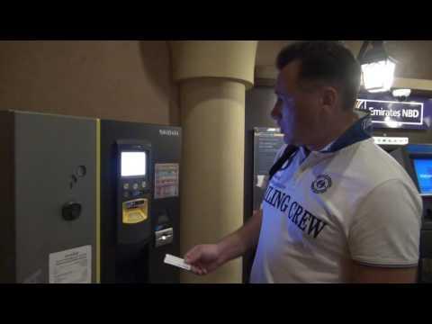 Парковочный автомат в Соук Мадинат Джумейра. Аренда авто в ОАЭ