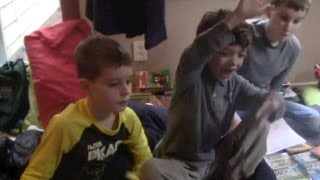 Boys, age 8-11, Show Their Love of Author Troy Cummings' Books