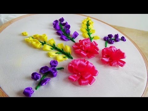 Hand Embroidery: Ribbon Embroidery Flowers