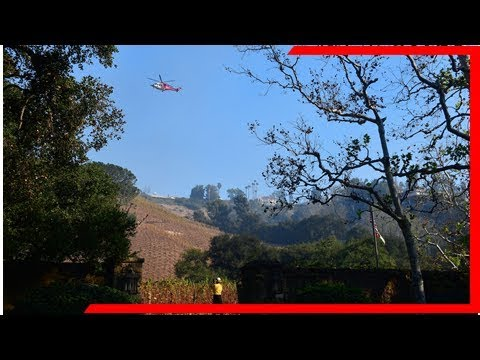 Fires in southern california today: the skirball fire in l.a. is burning down rupert murdoch's house