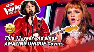 This 11-year-old COVERS popular songs in her OWN UNIQUE way in The Voice Kids! 🤩   Road To