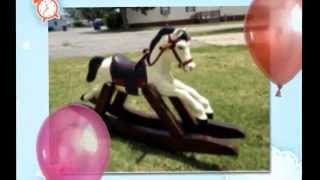 Diy Art Project My Wife Did For A Good Friend Of Hers. Old Hobby Horse, Made Rocking Horse.