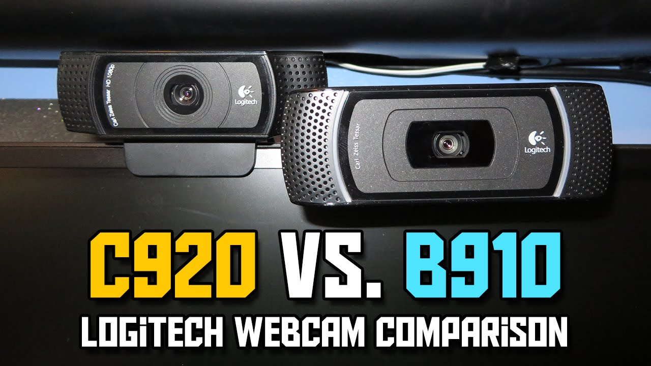 Logitech C920 Vs B910 Webcam Comparison 1080p Youtube