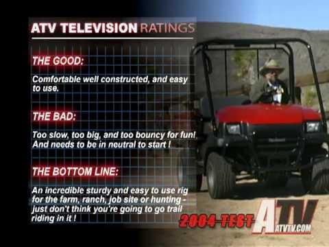 ATV Television Test - 2004 Kawasaki Mule 3010 4x4 - YouTube