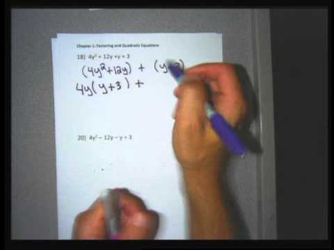 Intermediate Algebra section 1 2 factoring by grouping