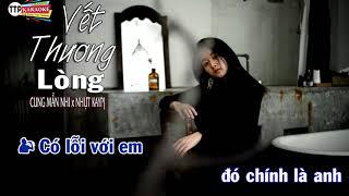 Karaoke Vết Thương Lòng - Cung Mẫn Nhi x Nhựt Kaypj [ OFFICIAL KARAOKE VIDEO ]