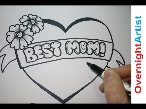 how to draw a valentine heart with chocolate letters i love you youtube