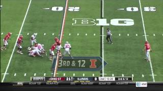 Ohio State at Illinois 2013 Highlights (Week 12)