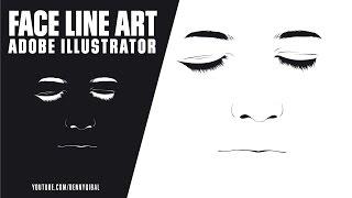 Adobe Illustrator CC Face Line Art Tutorial