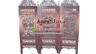 New Carving Room Divider | Folding Screen | Jepara Furniture | Indonesia Furniture | Ajf | 2020