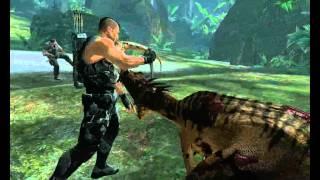Turok игра. Убийство динозавров ножом