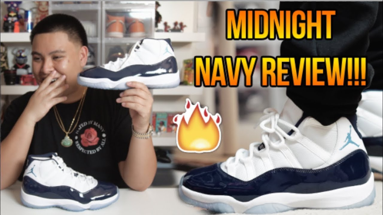 new products 5618e 84946 AIR JORDAN 11 'MIDNIGHT NAVY/WIN LIKE 82' REVIEW + ON FEET!!!