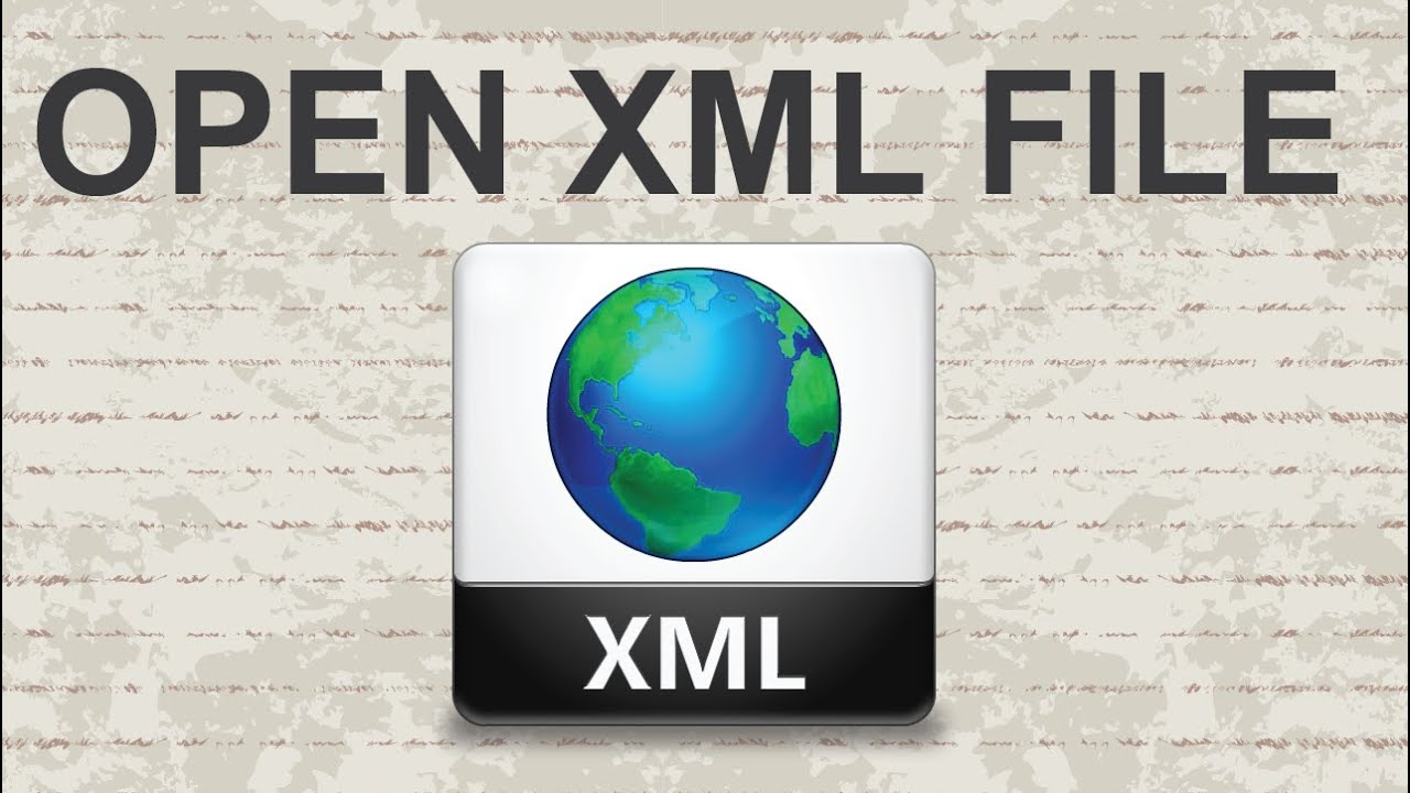 How to open XML file - 2 Methods - YouTube