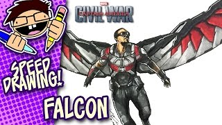 Speed Drawing FALCON (CAPTAIN AMERICA: CIVIL WAR)