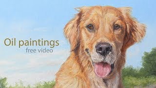"""Dog portrait, oil painting of """"Tigs"""" time-lapse, speed-painting"""