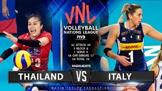 Italy vs. Thailand   Highlights   Women's VNL 2019