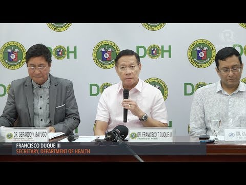 DOH suspends dengue vaccination program