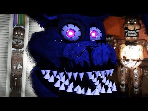 HUNTED BY NIGHTMARE FREDDY || FNAF 4 3D (FREE ROAM Five Nights at Freddys)