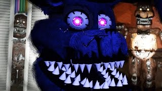 HUNTED BY NIGHTMARE FREDDY FNAF 4 3D FREE ROAM Five Nights At Freddys