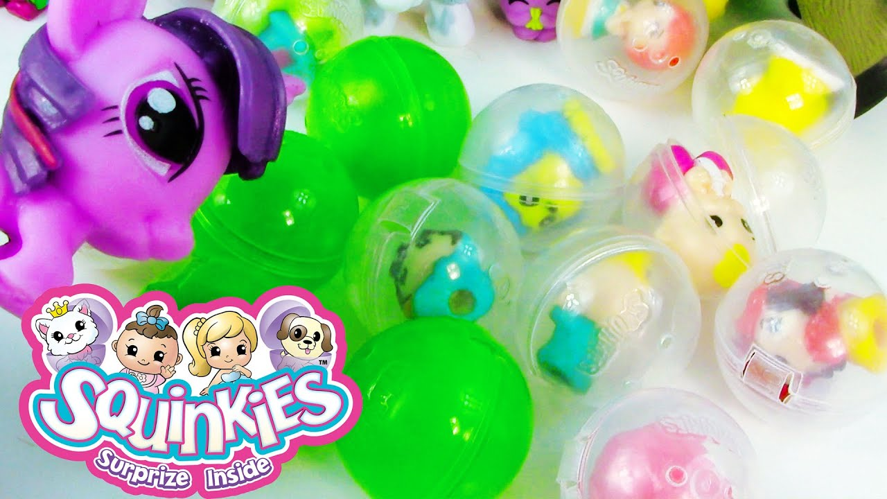 Mystery Bubbles Squinkies Unboxing Pack Squishy Toy REview MLP Twlight Fashems My Little POny ...