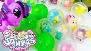 Mystery Bubbles Squinkies Unboxing Pack Squishy Toy REview MLP Twlight Fashems My Little POny