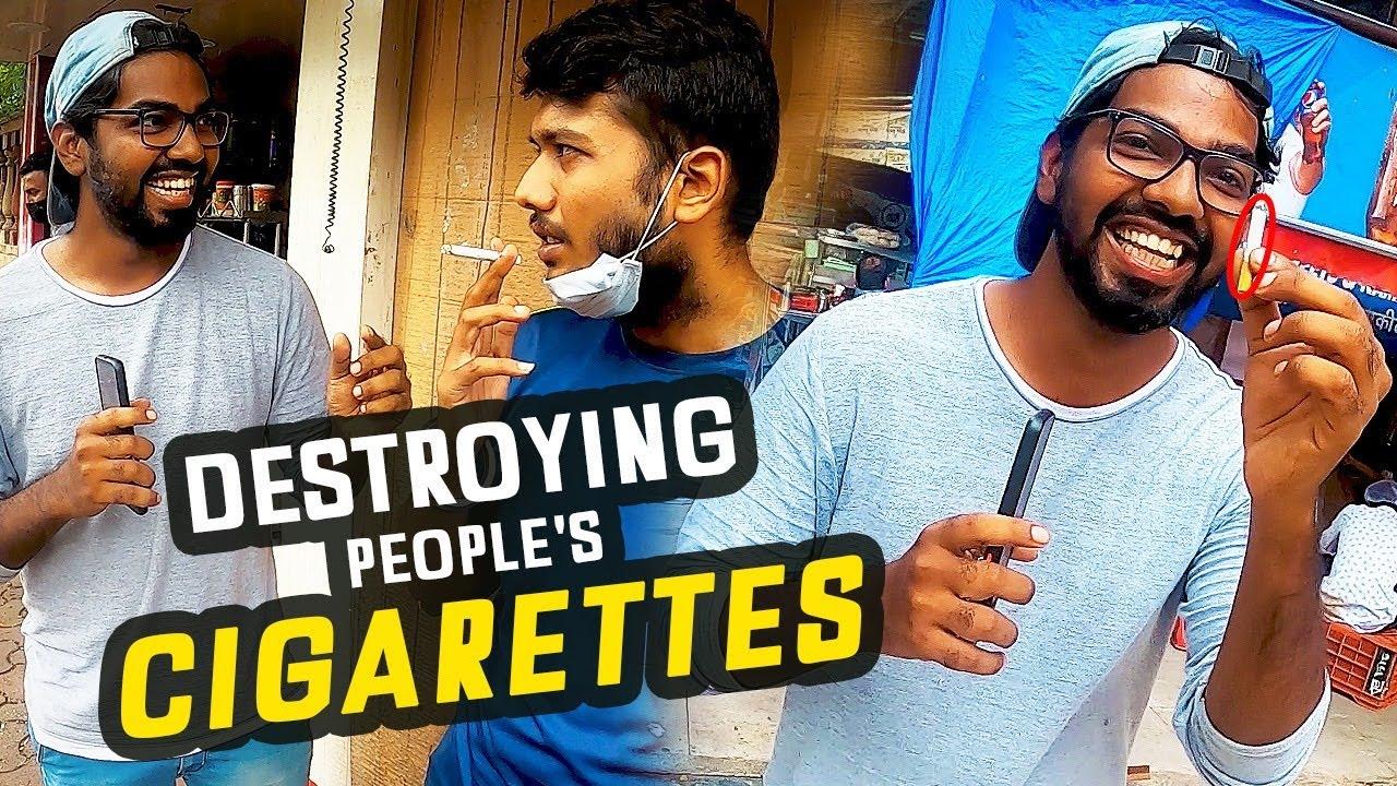 Destroying People's Cigarettes Challenge - Funk You | Nirbhay Singh | Pramod Rawat