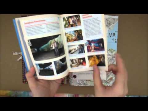 Europe travel journal flipthrough