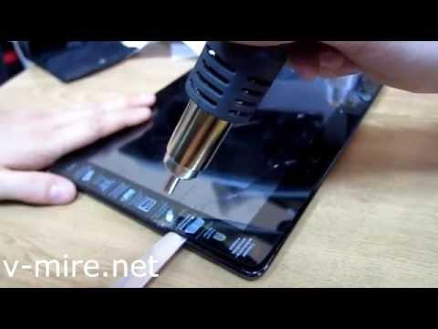 Как поменять экран на планшете