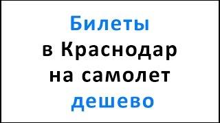 видео Билеты в Краснодар