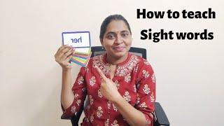 குழந்தைகளுக்கு இந்த மாதிரி ஈசியா இங்கிலீஷ் படிக்க கற்றுக் கொடுங்க |How to teach Sight words in tamil