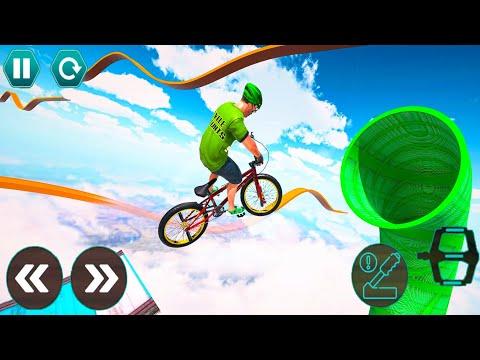 Cycle Stunt Racing Impossible Tracks - Mega Ramp Bicycle - Android Gameplay #20 thumbnail