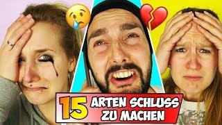 15 (komische) ARTEN SCHLUSS ZU MACHEN | Wie man eine Beziehung auf gar keinen Fall beenden sollte!