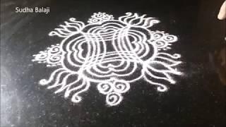 Small Aadi  masam kolam   Sudha Balaji