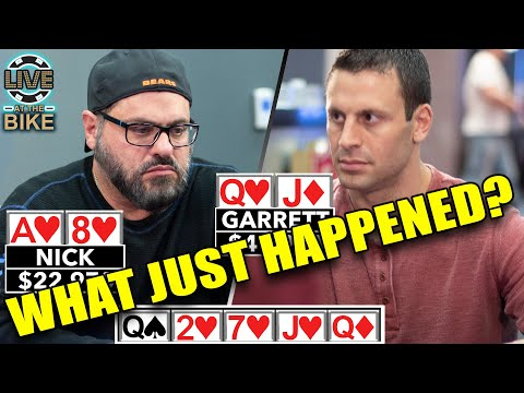 WHAT JUST HAPPENED?!? High Stakes Rivals Play Insane Poker Hand ♠ Live at the Bike!