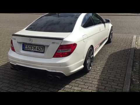 sound c63 amg gad kaltstart exhaust hms youtube. Black Bedroom Furniture Sets. Home Design Ideas