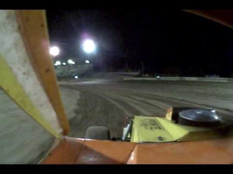 IMCA Modified #10 Wayne Francis (11-28-08) Hot Laps At Victorville Auto Raceway (In-Car View)