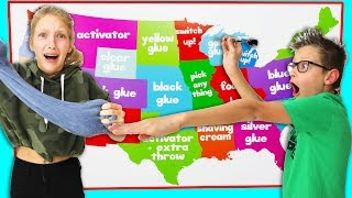 Download Throwing Darts at a Map and Making Slime Challenge!!! Mp3 and Videos