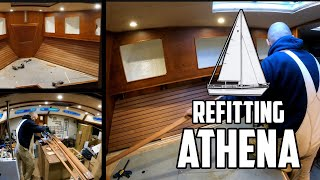 Sail life - Super spiffy cozy v-berth DIY sailboat project