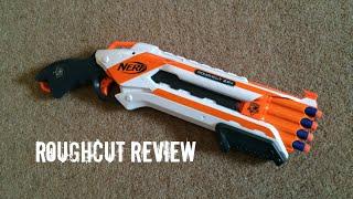 "Nerf N-Strike Elite ""Whiteout"" RoughCut 2X4 Unboxing & Firing Test Video"