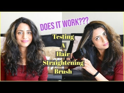 Testing a HAIR STRAIGHTENING BRUSH | DOES IT WORK? Revlon Hair Straightener Review | Himani Aggarwal