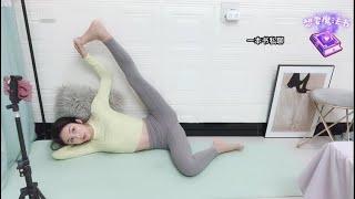【亞洲美女瑜伽主播】하이힐 신고 스쿼트 시리즈  홈트 운…