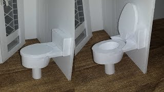 How to make a Doll Toilet