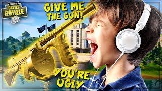 "ANGRY NOOB BEGS FOR ""MIDAS DRUM GUN"" IN FORTNITE! (ProPepper Fortnite Trolling)"